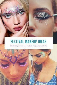The best festival makeup ideas and glitter essentials to guarantee you look amazing hot this summer. Includes DIY tips for dots, eyes and lips!