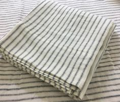 Iron and White Striped Linen bed sheets Available in Queen Linen Bed Sheets, King Sheets, Linen Bedding, Bedding Sets, King Pillows, Pillow Shams, Pillow Covers, Ticking Stripe, Striped Linen