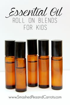 Learn how to make Essential Oil Roller Blends for kids.