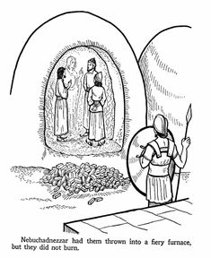 Bible Coloring Pages - Daniel - 3