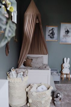 One Bedroom, Girls Bedroom, Ikea Girls Room, Baby Barn, Cool Kids Rooms, Room Inspiration, Room Decor, Modern, Nursery