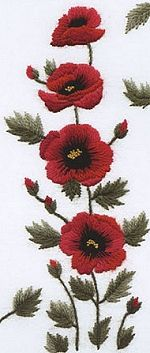 Red Poppies Embroidery Kit SUR01