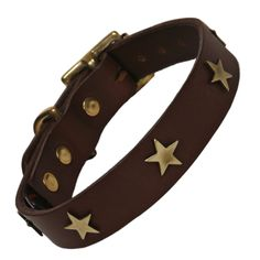 Traditional chocolate brown leather dog collar with your choice of brass studs. These luxury brown leather dog collars with brass studs by Creature Clothes are simple and stylish and will look great on any dog. Choose either brass bones, hearts Jane Jackson, Handmade Dog Collars, Leather Dog Collars, Brass Color, Leather Craft, White Leather, Studs, Oil