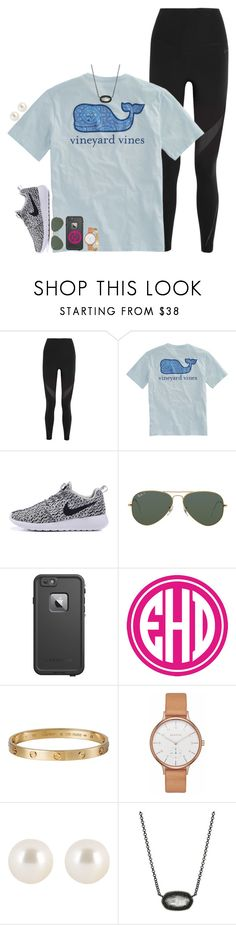 """""""lazy saturdays"""" by hmcdaniel01 ❤ liked on Polyvore featuring NIKE, Vineyard Vines, Ray-Ban, LifeProof, Cartier, Skagen, Henri Bendel and Kendra Scott"""