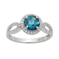 Sterling Silver London Blue Topaz