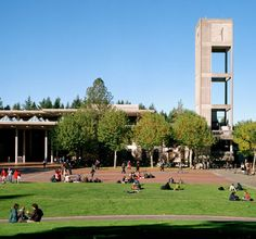 Ahhh. An afternoon on Red Square. Evergreen State College, Olympia, WA