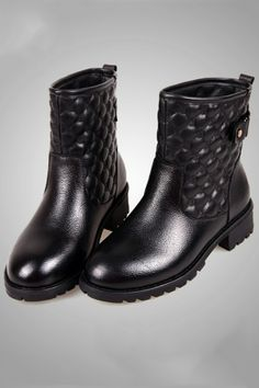 Quilted Ankle Boots - OASAP.com
