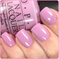 I want this nail polish!  OPI 'Lucky Lucky Lavender' & China Glaze 'Fairy Dust'