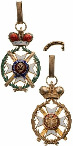 ORDER OF TAKOVO Grand Cross Set, 1st Class - Principality of Serbia 19th Century