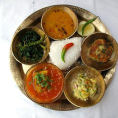 Assamese Food thali- typical to the state of Assam