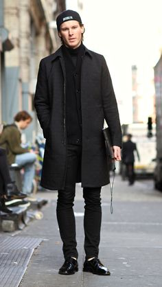 Black on Black Style with winter 2012