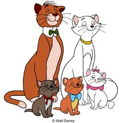 Gatos Disney, Disney Cats, Disney Cartoons, Pixar Movies, Disney Movies, Disney Pixar, Walt Disney Characters, Cartoon Characters, Marie Cat