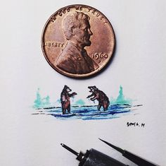 Charmingly Detailed Illustrations That Are Smaller than a Penny - My Modern Met