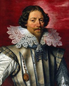 Frans Pourbus the Younger - Portrait of a man. Pourbus is noted for his depiction of costume, jewellry and draperies.