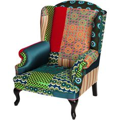 Desigual Patchwork Armchair - Green ($2,430) ❤ liked on Polyvore featuring home, furniture, chairs, accent chairs, multi, patchwork armchair, patchwork chair, green furniture, patch work chair and patch chair