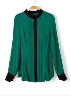 Vintage Laple Long-sleeve Shirt Green$39