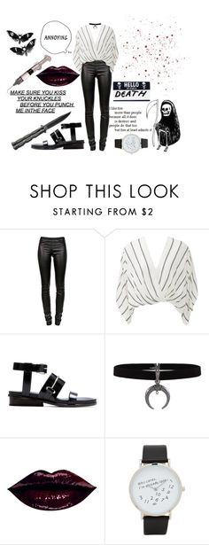 """""""the air has left my lungs"""" by marimomu ❤ liked on Polyvore featuring Helmut Lang, Free People, Balenciaga, ALDO and Curiology"""