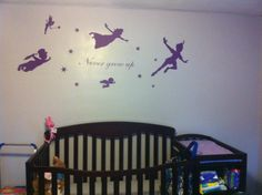 Gabby's neverland nursery. Walls are grey with silver sparkles in the paint. Looks fantastic. Can't wait for her to get here!