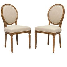 Safavieh Reims Antiqued Carved Oak Side Chairs