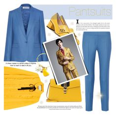 """Pantsuits"" by francescar ❤ liked on Polyvore featuring STELLA McCARTNEY and Gucci"