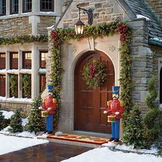 Classic Outdoor Greenery Collection - Christmas begins at the Front Door~ #Frontgate  #HolidayDecor