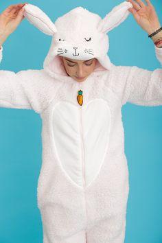 Bella the Pink Bunny Rabbit Onesie Cute Pajama Sets, Cute Pajamas, Pajamas Women, Unicorn Outfit, Bunny Outfit, Primark, Pilou Pilou, Olaf Costume, Cuddle Duds