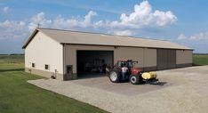 Morton Buildings machine storage building in Kawkawlin, Michigan.