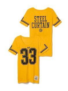 545f4bd7 Pittsburgh Steelers Athletic Tee PINK Steeler Nation, Pink Tops, Pittsburgh  Steelers, Victoria Secret