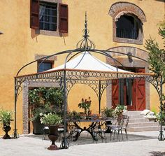 New Pics Wrought Iron gazebo Ideas Dwelling adorning together with wrought iron will be as formidable these days because wrought iron precious me. gazebo ideas New Pics Wrought Iron gazebo Ideas Iron Pergola, Gazebo Pergola, Outdoor Gazebos, White Pergola, Pergola With Roof, Covered Pergola, Backyard Pergola, Pergola Shade, Pergola Plans