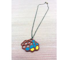 Slip trailed colorful necklace, $18.0