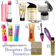 best drugstore beauty products by @Heather Creswell Giustino