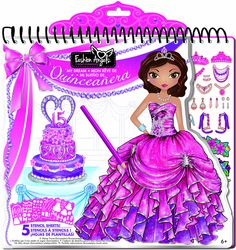 Fashion Angels My Dream Quinceanera Full Size Portfolio Paper Fashion, Fashion Art, Fashion Outfits, Fashion Design, Fashion Clothes, Birthday Care Packages, Stencils, Fashion Angels, Fashion Sketches