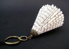 Paper Jewelry - Paper Art - Altered miniature Book