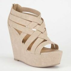 Soda Berta Womens Shoes Natural In Sizes from Tilly's. Saved to Shoes, shoes, SHOES! Shoes Heels Wedges, Shoes Sandals, Nude Wedges, Nude Heels, High Heels, Cute Shoes, Me Too Shoes, Dress And Heels, Summer Shoes
