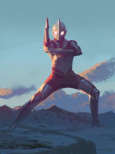 ArtStation - Ultraman with process video, ryan lang