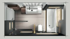 Bathroom and living room design, conversion of office and commercial space, design of . - Badideen - Bathroom and living room design, conversion of office and commercial space, design of … – Badid - Bad Inspiration, Bathroom Inspiration, Bathroom Layout, Bathroom Interior, Bathroom Ideas, Tile Layout, Bathroom Organization, Bathroom Mirrors, Bathroom Cabinets