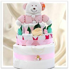 Nappy Cake Gift Hamper For Girls - $98