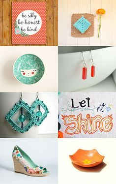 Cheerful OrangeAid by Lelaine on Etsy--Pinned with TreasuryPin.com