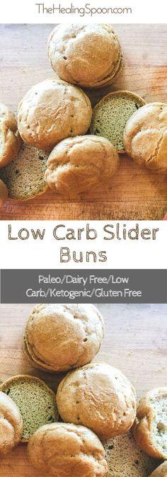 gluten free, low carb, dairy free, keto slider buns