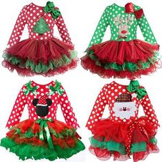Santa Claus Christmas Dress Kids Party New Year Costume Winter Snowman Baby Girl Clothes Christmas Tree Children Clothing Baby Girl Party Dresses, Baby Dress, Girls Dresses, Dress Girl, Kids Christmas Outfits, Kids Outfits, Christmas Clothing, Costume Birthday Parties, Green Tutu