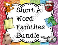 Short A Word Families Bundle from Teaching Superkids on TeachersNotebook.com -  (246 pages)  - Short A Word Families Bundle Set
