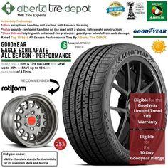 Goodyear EAGLE EXHILARATE All Season Performance Tire 275/35ZR20 XL 102Y Rotiform Wheels Goodyear Eagle, Service Map, Performance Tyres, Wheels, Seasons, Seasons Of The Year