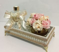 Exclusive Home Decor Bathroom Crafts, Mirror Tray, Holidays And Events, Trinket Boxes, Flower Vases, Decoupage, Diy And Crafts, Centerpieces, Decorative Boxes