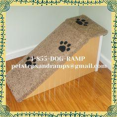 Custom Handmade Dog Ramp #DogRamp #PetRamp #DogStairs #DogSteps #PetSteps #PetStairs #Dogstairsforbeds #Petstepsforbeds #SeniorDogs #Disableddogs