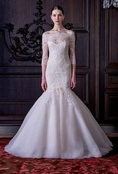 Brides: Monique Lhuillier Wedding Dresses   Spring 2016   Bridal Runway Shows   Brides.com | Wedding Dresses Style