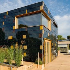 German Team wins Solar Decathlon with solar covered house. The surface of this house is covered with solar cells: an 11.1-kW photovoltaic (PV) system made of 40 single-crystal silicon panels on the roof and about 250 thin-film copper indium gallium diselenide (CIGS) panels on the sides that are expected to produce an incredible 200% of the energy needed by the house. The house generated 19 kilowatts one day during test runs. solardecathlon.gov