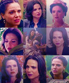 Lana Parrilla is honestly one of the most gifted actresses I've happened upon. This is all the same character yet she can play them so differently it feels like a completely different person. The first pic is person you want to hug and comfort. The second is someone you know you don't want to cross, Evil Queen and desperate girl, so different with just facial expressions. If you don't find her acting skills AMAZING you're wrong.
