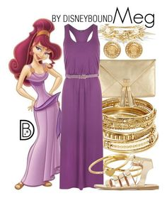 """""""Meg"""" by leslieakay ❤ liked on Polyvore featuring ABS by Allen Schwartz, Rosantica, WearAll, Gorjana, Dune, Versace, Jo No Fui, disney and disneybound"""