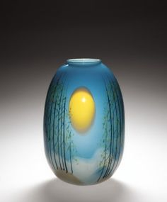 Vessel by Mark Peiser, 1977. | Corning Museum of Glass #glass #Contemporary #vessel