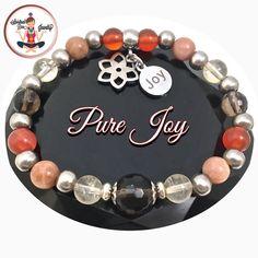Positive Energy Healing Crystal Reiki Gemstone Joy Charm Bracelet